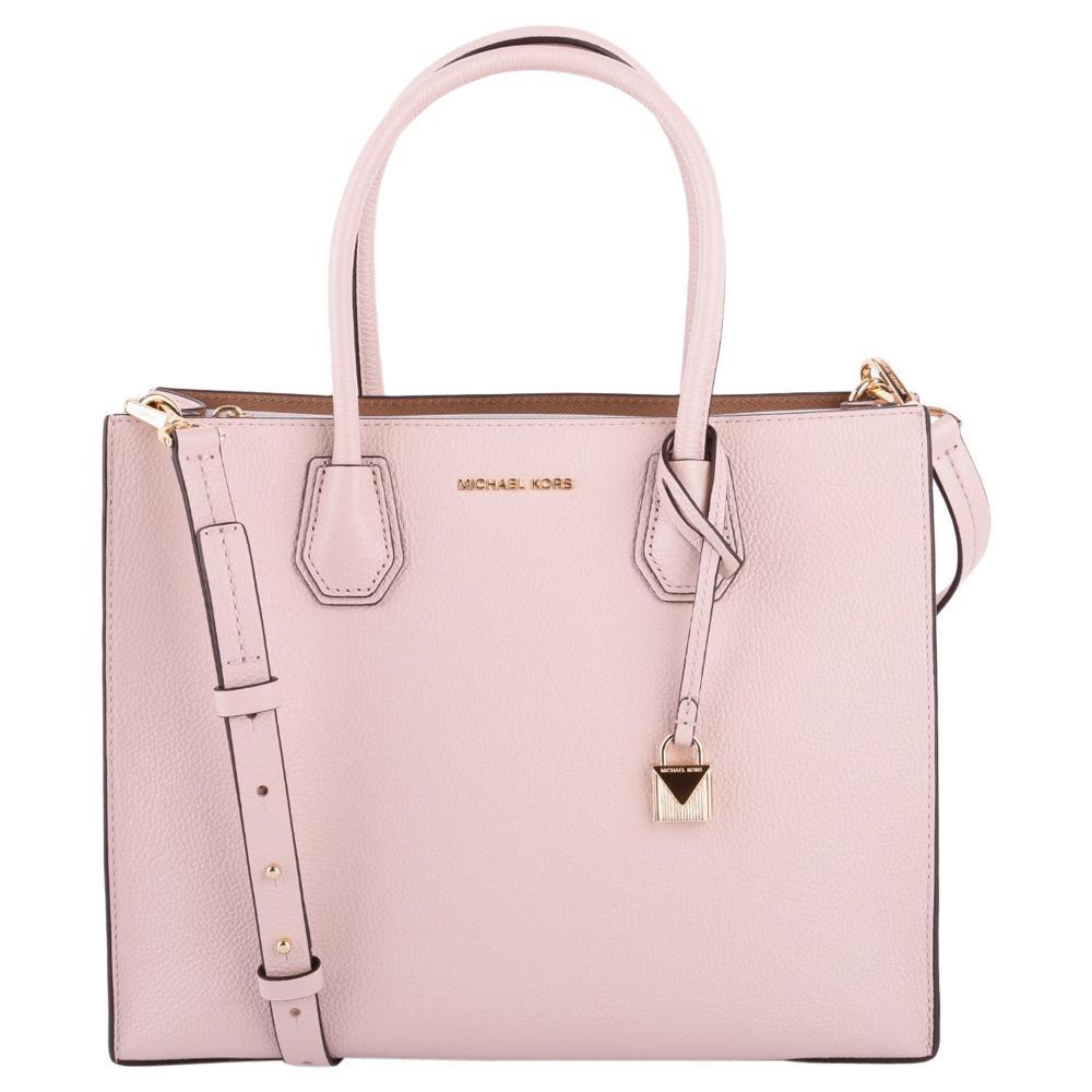 Borsa Tote Mercer Grande in Pelle Donna MICHAEL MICHAEL KORS cod.30F6GM9T3L  Colore Soft pink ee8a9f31188