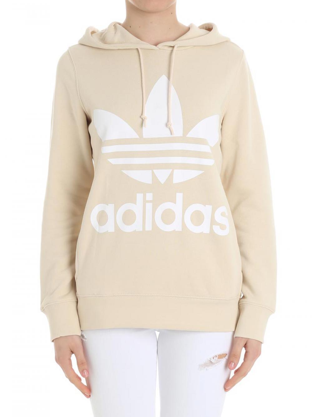 Colore Cotone Adidas Felpa Cod Donna In Trefoil Linen ce2414 0FWqUwSW