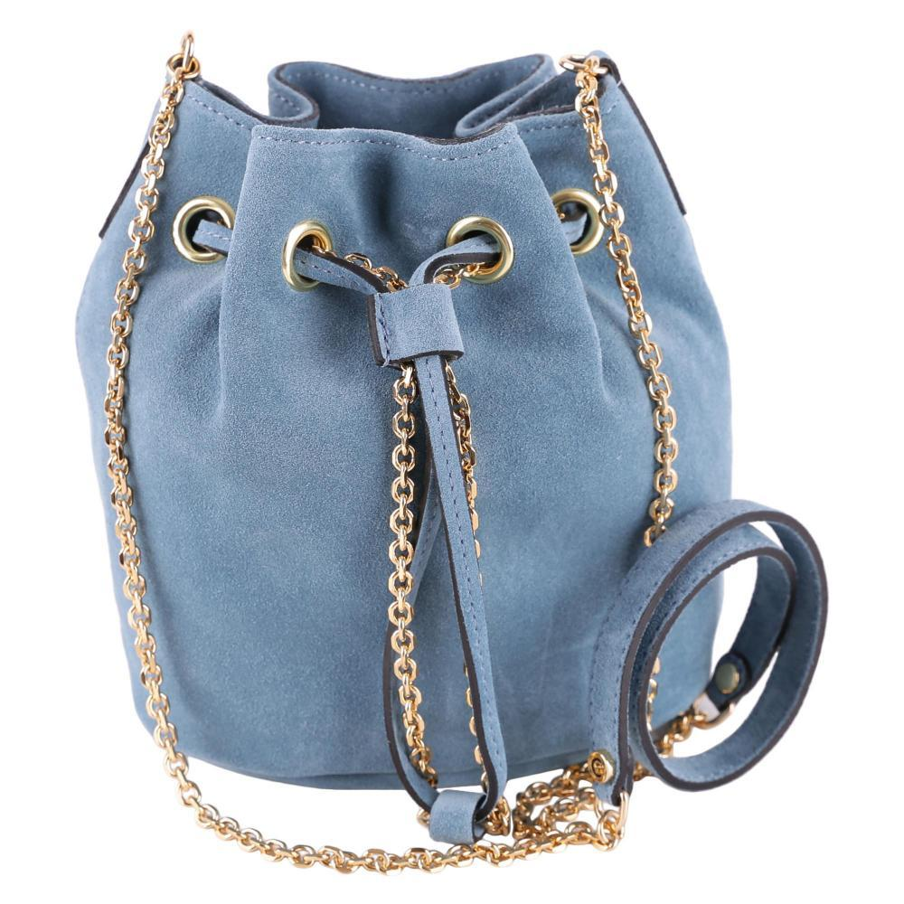 Borsa Secchiello Mini Donna GIANNI CHIARINI cod.BS614518PECM Colore TEAL cdf2203fb15