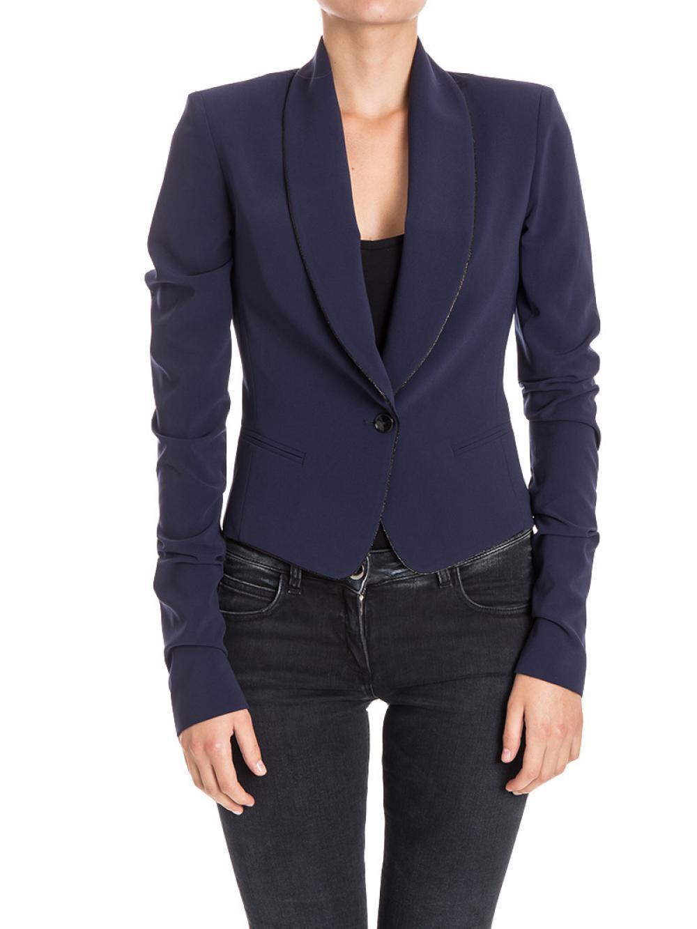 factory price 73fa7 21ef0 Giacca Donna PATRIZIA PEPE cod.8S0154 Colore BLUE